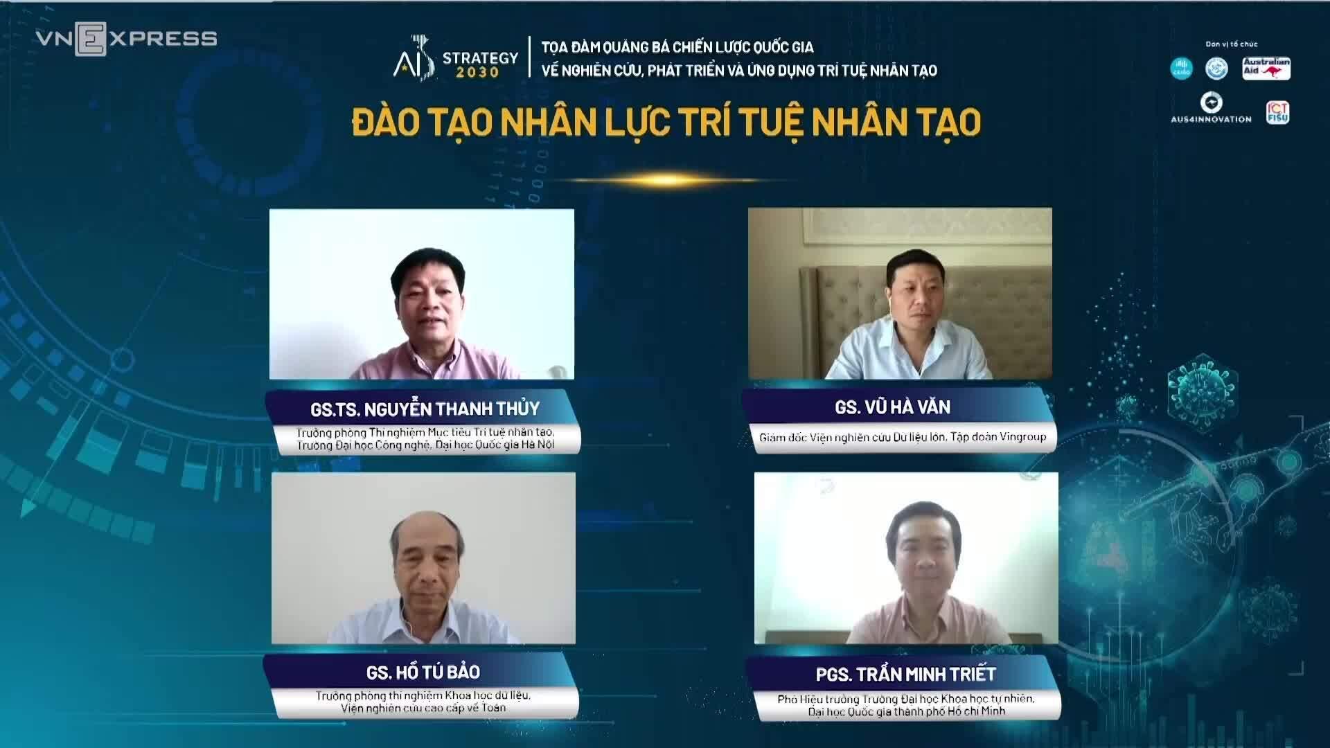 Tọa đàm trực tuyến 'Đào tạo nhân lực trí tuệ nhân tạo'
