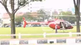 Lái trực thăng đi mua cơm để né lệnh phong tỏa