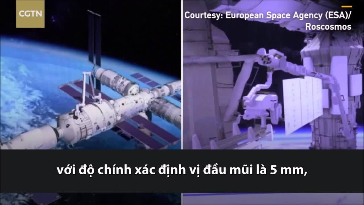 So sánh cánh tay robot vũ trụ của Nga và Trung Quốc
