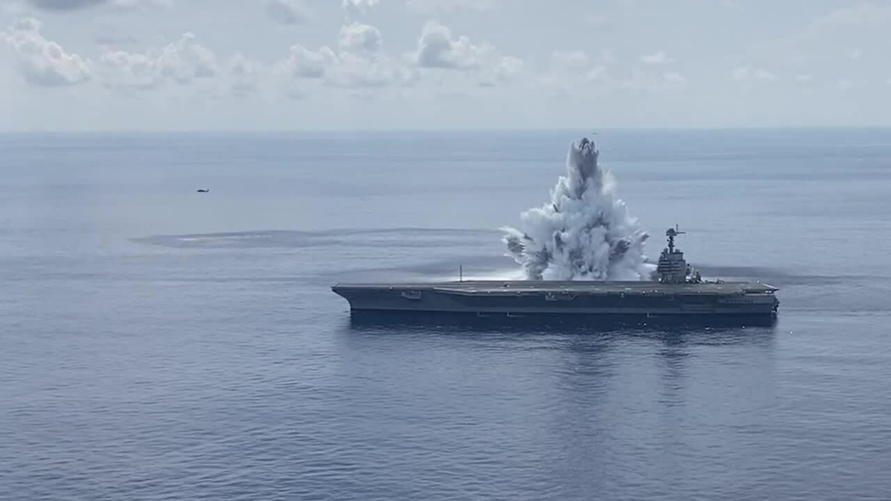 Thông điệp Mỹ gửi Trung Quốc khi gây nổ cạnh tàu sân bay
