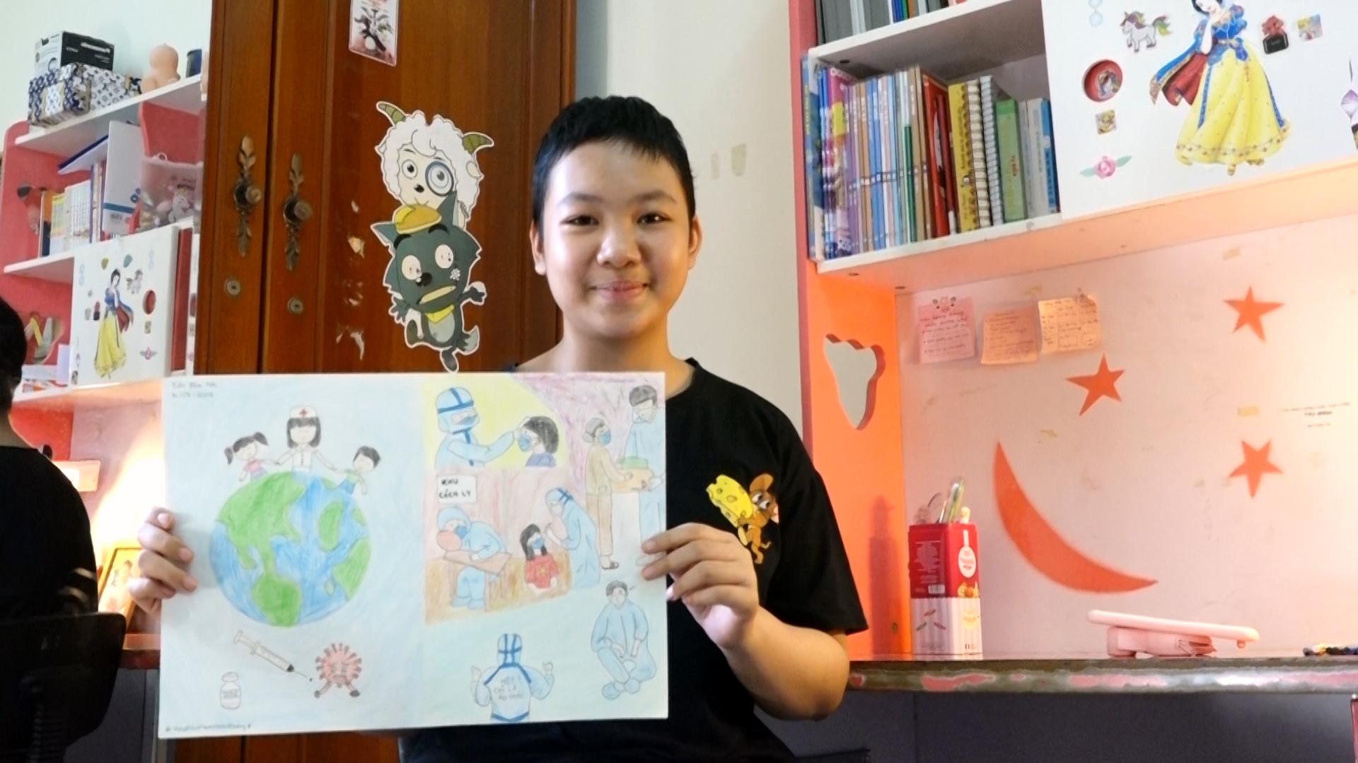 Bệnh nhi ung thư vẽ 'siêu anh hùng' của mình