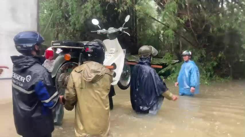 Ảnh hưởng bão Côn Sơn ở Quảng Ngãi