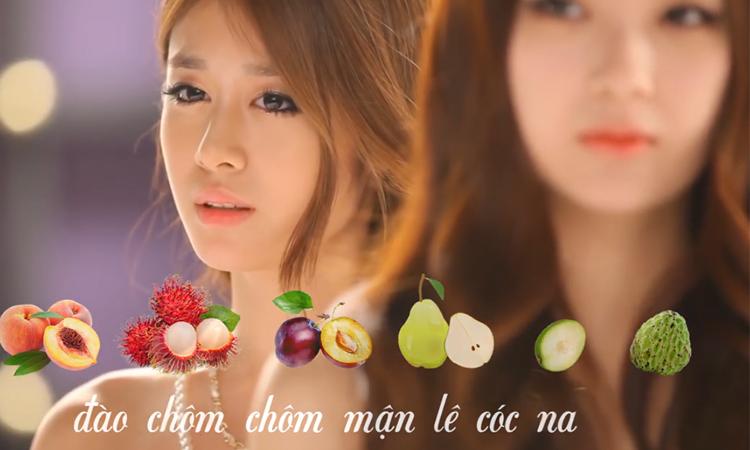 Bài hát hoa quả theo phong cách Kpop