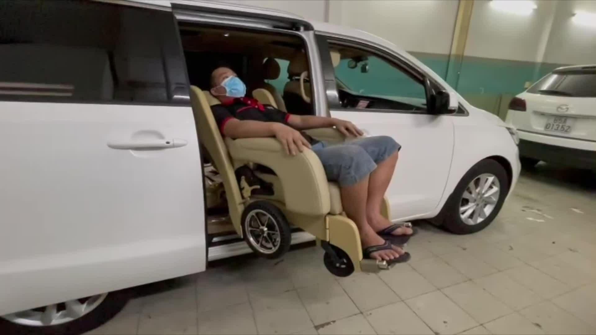 Bản độ ghế đa năng cho người mẹ bị liệt toàn thân