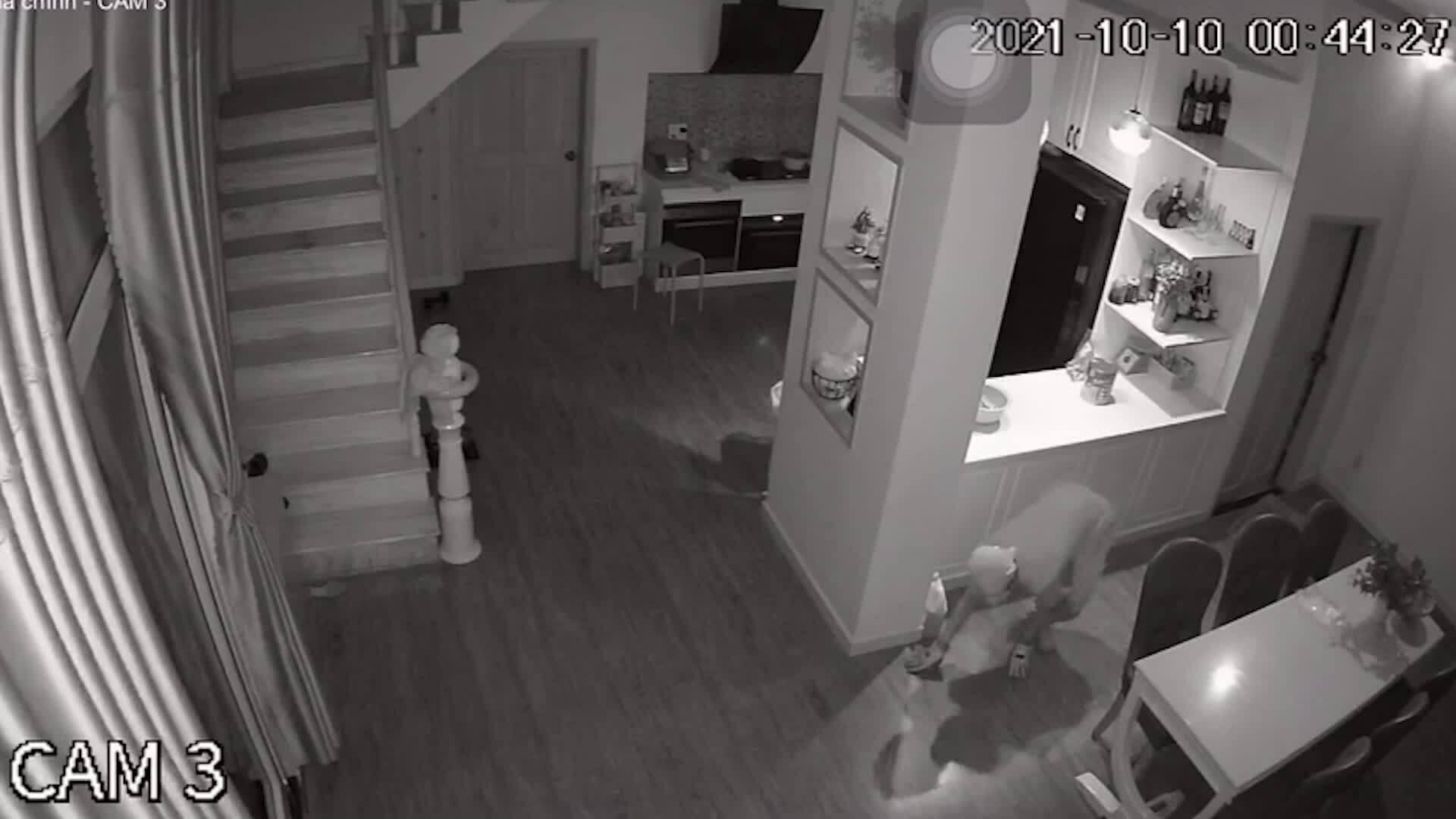 Camera an ninh: Trộm tài sản ngay cạnh chủ nhà