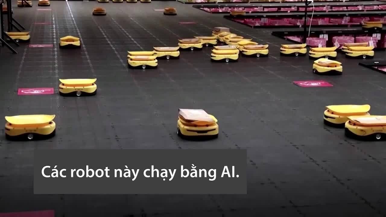 Đội quân robot xử lý 168.000 bưu phẩm mỗi ngày