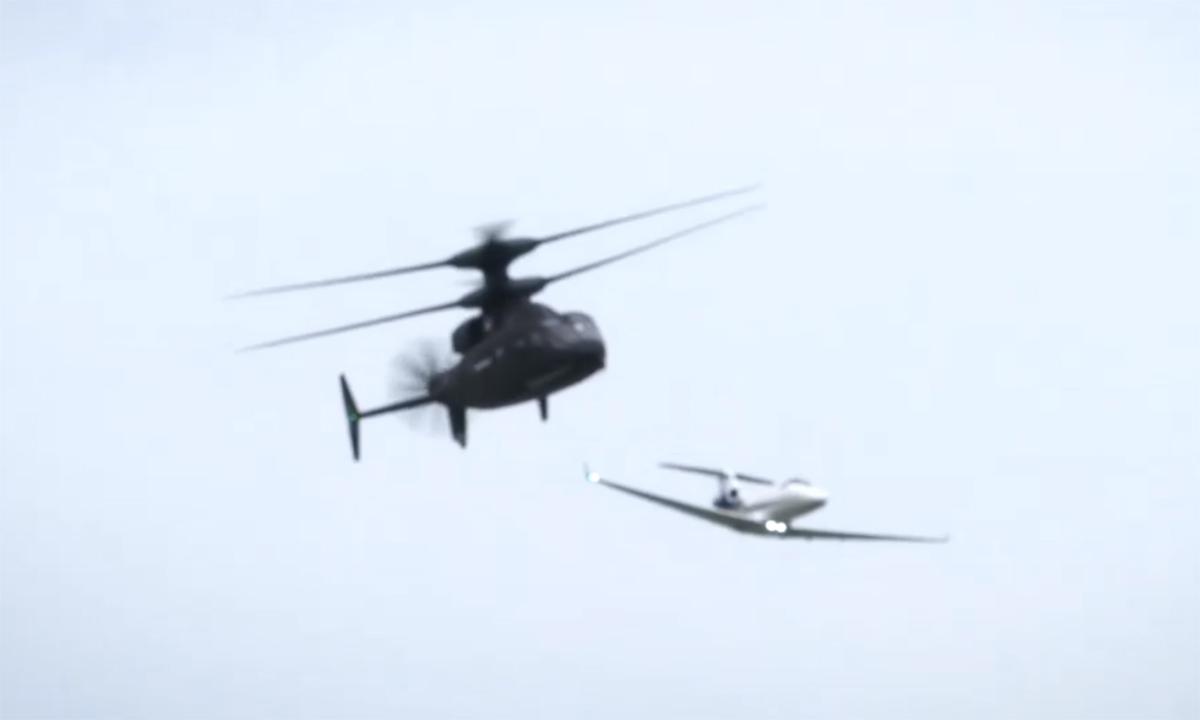 Trực thăng Mỹ đua tốc độ với máy bay phản lực