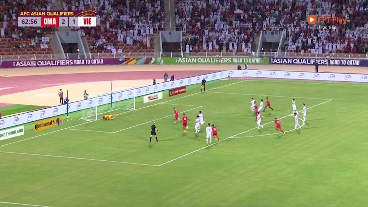 Yahyaei nâng tỷ số lên 3-1 cho Oman